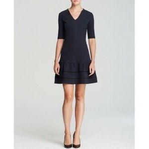 Rebecca Taylor V Neck Flounce Women's Dress Size 8